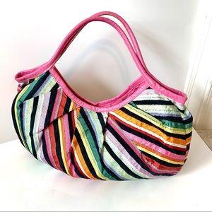 ACCESSORIZE Ribbon Boho Leather Handle Bag